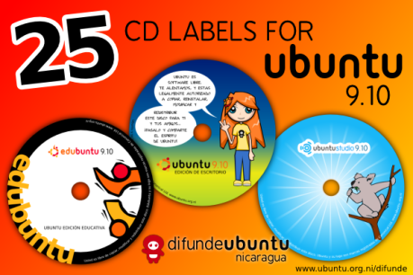25 Cd Labels per Ubuntu Karmic Koala